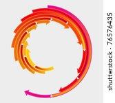 colored arrows vector | Shutterstock .eps vector #76576435