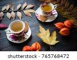 tea time relaxation | Shutterstock . vector #765768472
