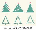 christmas green trees | Shutterstock .eps vector #765768892