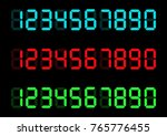 calculator digital numbers.... | Shutterstock .eps vector #765776455