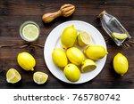 fresh homemade lemonade. lemons ...   Shutterstock . vector #765780742
