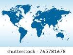 blue world map vector | Shutterstock .eps vector #765781678