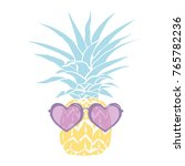 pineapple with glasses tropical ...   Shutterstock .eps vector #765782236
