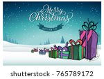 happy holidays. christmas... | Shutterstock .eps vector #765789172