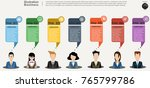 businessman and  lady  ...   Shutterstock .eps vector #765799786