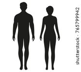 man and woman  silhouette  | Shutterstock . vector #765799942