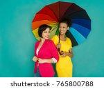 multiethnic friendship concept. ... | Shutterstock . vector #765800788