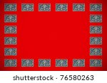a peranakan floral timber... | Shutterstock . vector #76580263