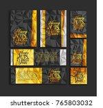 happy new year golden template  ... | Shutterstock .eps vector #765803032