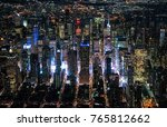 new york aerial view over... | Shutterstock . vector #765812662
