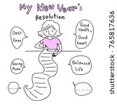 new year's resolution concept... | Shutterstock .eps vector #765817636