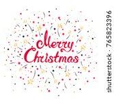 bright christmassy winter...   Shutterstock .eps vector #765823396
