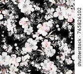 watercolor seamless pattern of...   Shutterstock . vector #765826102