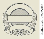 empty rubber stamp   vintage... | Shutterstock .eps vector #765827032