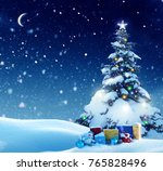 winter background.merry... | Shutterstock . vector #765828496