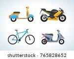 modern types of means of street ...   Shutterstock .eps vector #765828652