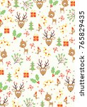 christmas pattern holidays | Shutterstock .eps vector #765829435