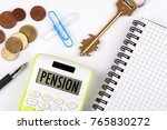 pension concept. business... | Shutterstock . vector #765830272