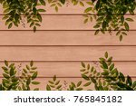 fresh leaf with spring green... | Shutterstock . vector #765845182
