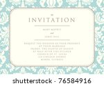 ornate damask background.... | Shutterstock .eps vector #76584916