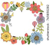 vector design with hand drawn... | Shutterstock .eps vector #765850282
