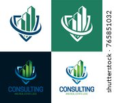 consulting and real estate logo  | Shutterstock .eps vector #765851032