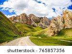 mountain road landscape | Shutterstock . vector #765857356
