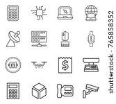 thin line icon set   calculator ... | Shutterstock .eps vector #765858352