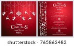 christmas greeting and new... | Shutterstock .eps vector #765863482