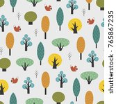 scandinavian style trees with...   Shutterstock .eps vector #765867235