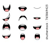 set of cartoon mouth poses for... | Shutterstock .eps vector #765869425