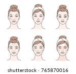 girl has a problems with her... | Shutterstock .eps vector #765870016