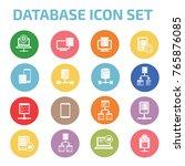 database server icon set vector | Shutterstock .eps vector #765876085