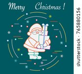 santa claus with presents. new... | Shutterstock .eps vector #765880156