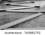 meter from geometry working in... | Shutterstock . vector #765881752