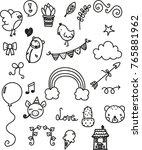 cute elements set | Shutterstock .eps vector #765881962