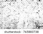 grunge black and white pattern. ... | Shutterstock . vector #765883738
