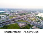 intersection traffic x road... | Shutterstock . vector #765891055