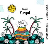 pongal  thai pongal is a tamil... | Shutterstock .eps vector #765893056