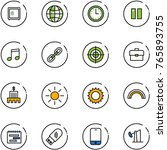 line vector icon set   safe... | Shutterstock .eps vector #765893755