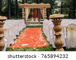 path to the hindu wedding altar ... | Shutterstock . vector #765894232