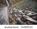 running water from the water... | Shutterstock . vector #76589533
