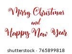 merry christmas and happy new... | Shutterstock .eps vector #765899818