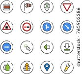 line vector icon set   sign... | Shutterstock .eps vector #765902386