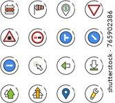line vector icon set   sign...   Shutterstock .eps vector #765902386