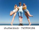 friendship happiness summer... | Shutterstock . vector #765904186