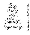big things often have small... | Shutterstock .eps vector #765906526
