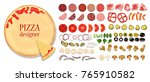 a set of different ingredients... | Shutterstock .eps vector #765910582
