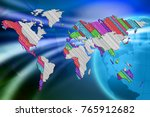 news background for global news.... | Shutterstock . vector #765912682