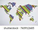 news background for global news.... | Shutterstock . vector #765912685
